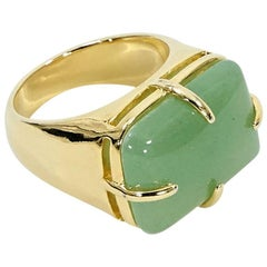 Green Carolina Herrera Stone Cocktail Ring