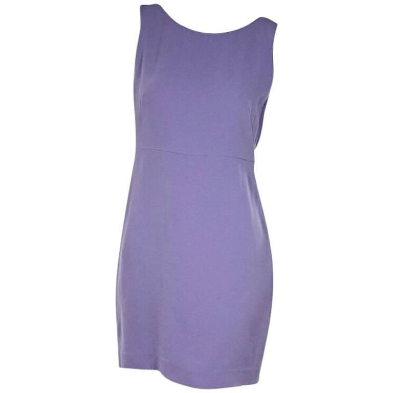 Lavender Alexander Wang Draped-Back Sheath Dress