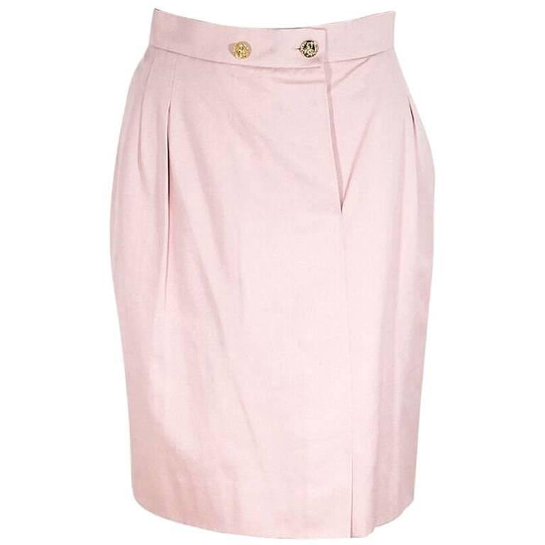 Light Pink Vintage Chanel Skirt