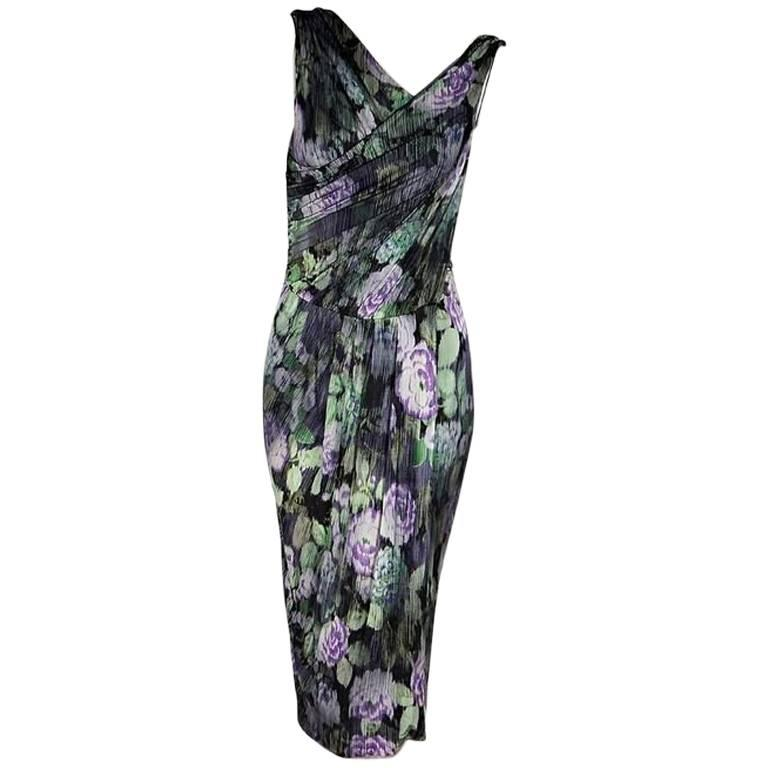 Purple & Green Etro Printed Sheath Dress