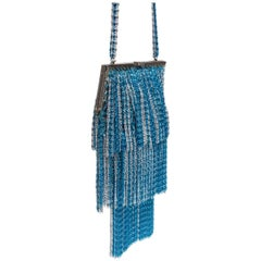 Loris Azzaro Lurex Crochet Evening Bag