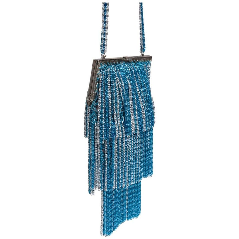 Loris Azzaro Lurex Crochet Evening Bag