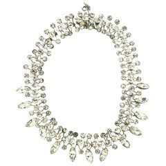 Mid-1940's Clear Crystal Necklace by Eisenberg