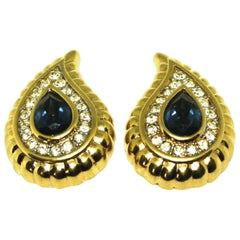 1980's Large Clip Earrings by Nina Ricci