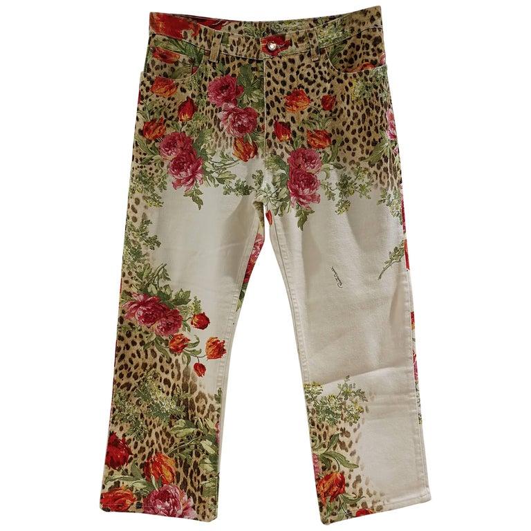 Roberto Cavalli Beije Flower Trousers
