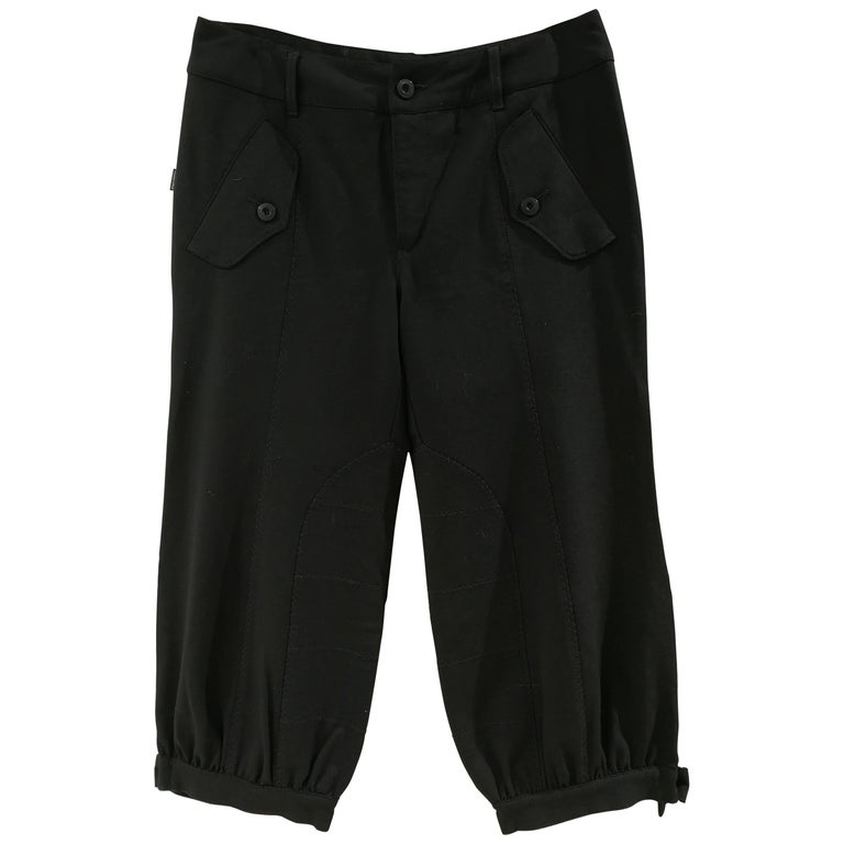 Moschino Black cotton trousers