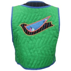 1980's Jeanne Marc Quilted Bird Vest
