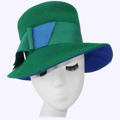 C.1960 Amy of New York Blue & Green Hat