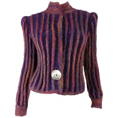 1980's Ann Caron by Annette Pyes  Mohair Cardigan