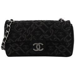 Chanel CC Chain Zip Flap Bag Tweed Small