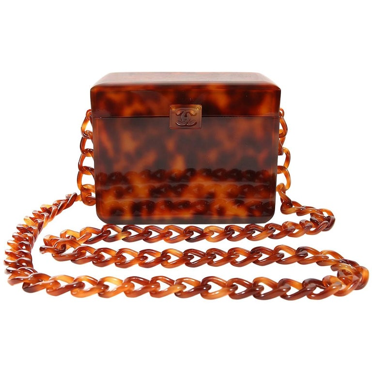 Chanel Tortoise Pattern Resin Chain Bag