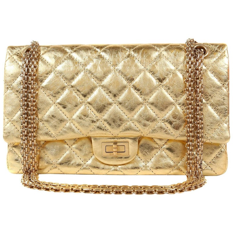 Chanel Metallic Gold Leather Reissue Flap Bag