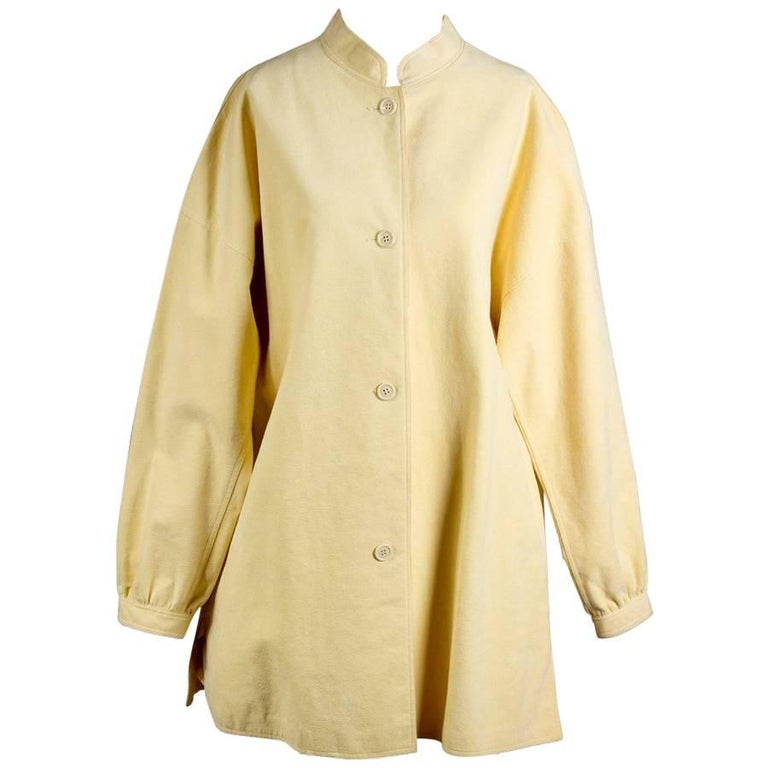Halston Dandelion Yellow Ultrasuede Jacket circa 1970s