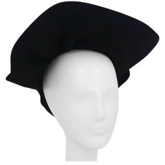 1930s Black Structured Hat