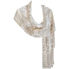 1920s Silver Assuit Shawl