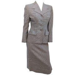Black and White Houndstooth Suit Set, 1940s