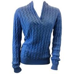 Kinross Cashmere Blue Sweater NWT