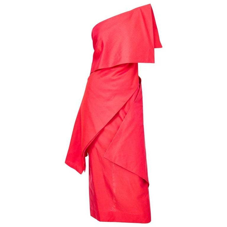 Ronaldus Shamask One Shoulder Dress For Sale