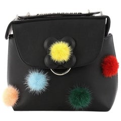 Fendi Back to School Backpack Pom Pom Leather Mini