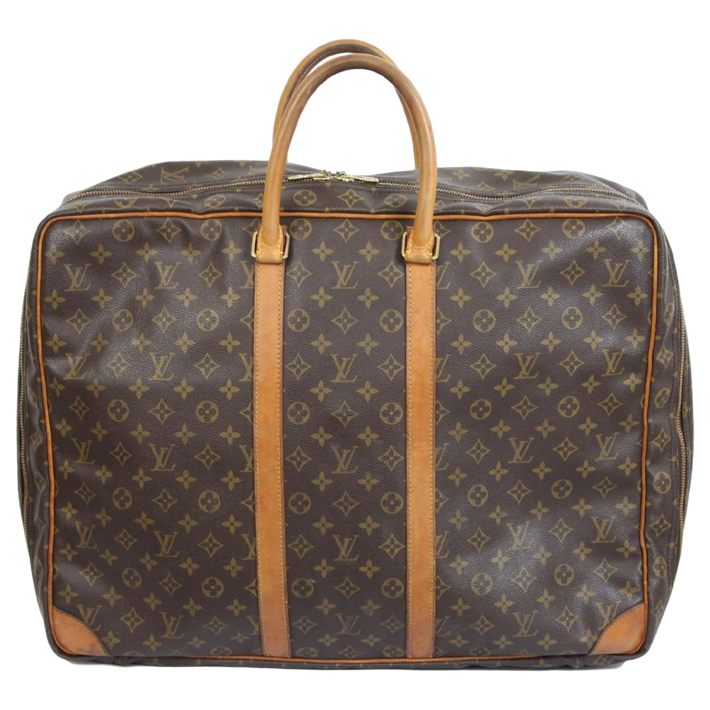 Louis Vuitton Sirius 55 Travel Bag Suitcase Brown Vintage Leather l56lMyQmP
