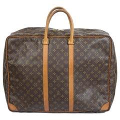 Louis Vuitton Sirius 55 travel bag Suitcase Brown Vintage Leather