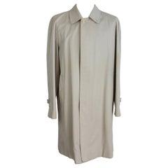Burberry London Raincoat Trench Cotton Vintage Beige