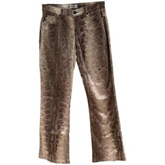 Moschino python stamp Trousers