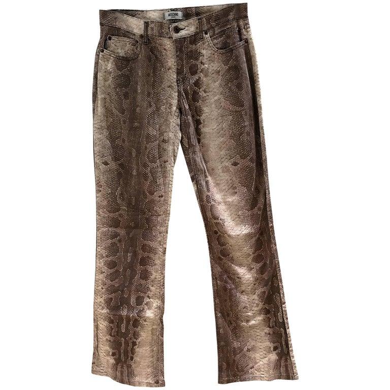 Moschino python stamp Trousers