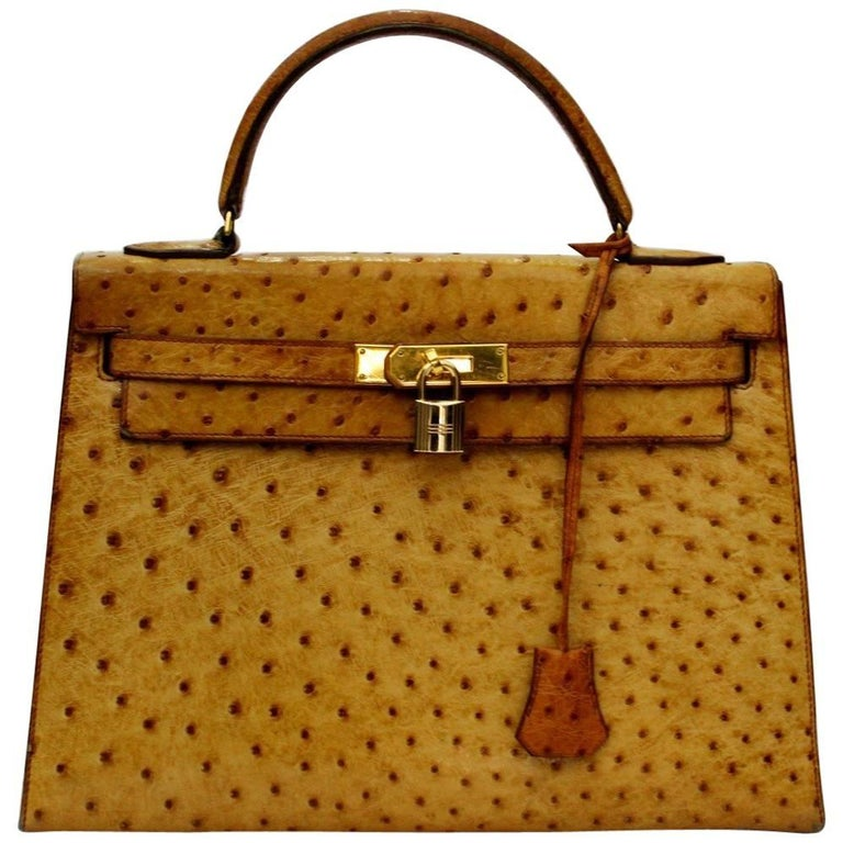 Hermes Kelly Bag Ostrich Leather 32cm at 1stdibs 6f06bf2a78617