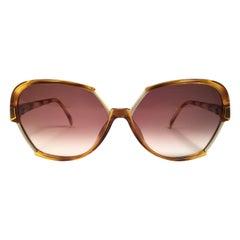 New Vintage Viennaline 1304 Translucent Oversized Sunglasses Germany 1980