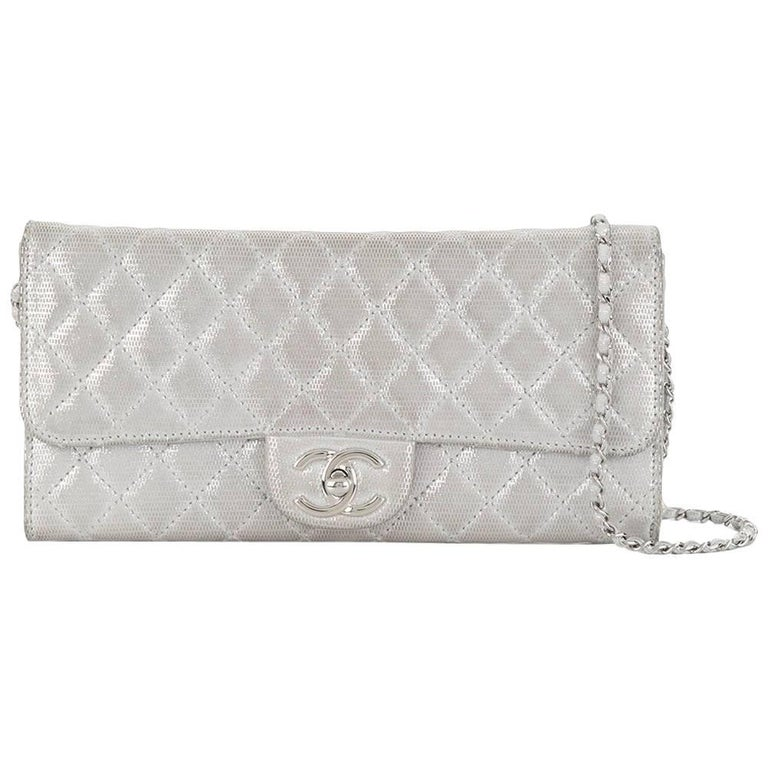 Chanel Silver Quilted Bag