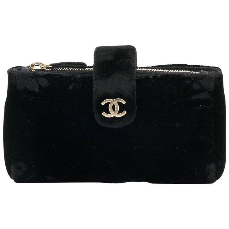 Chanel Black Velvet Purse