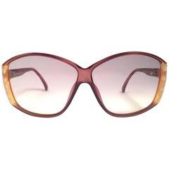 New Vintage Viennaline 1302 Translucent Beige Oversized Sunglasses Germany 1980