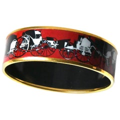 Hermes Red Enamel Bracelet