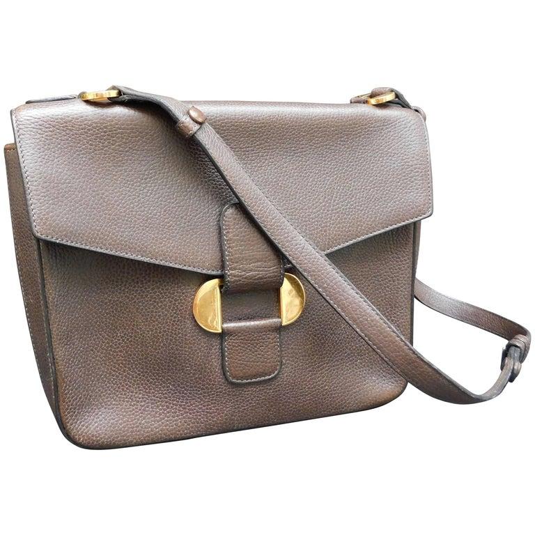 Delvaux Brown Leather Crossbody Handbag