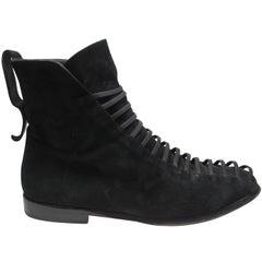 Immagini 1980s Black Suede Boot