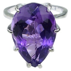 Gemjunky Brazilian Amethyst in Sterling Silver Ring  February Birthstone