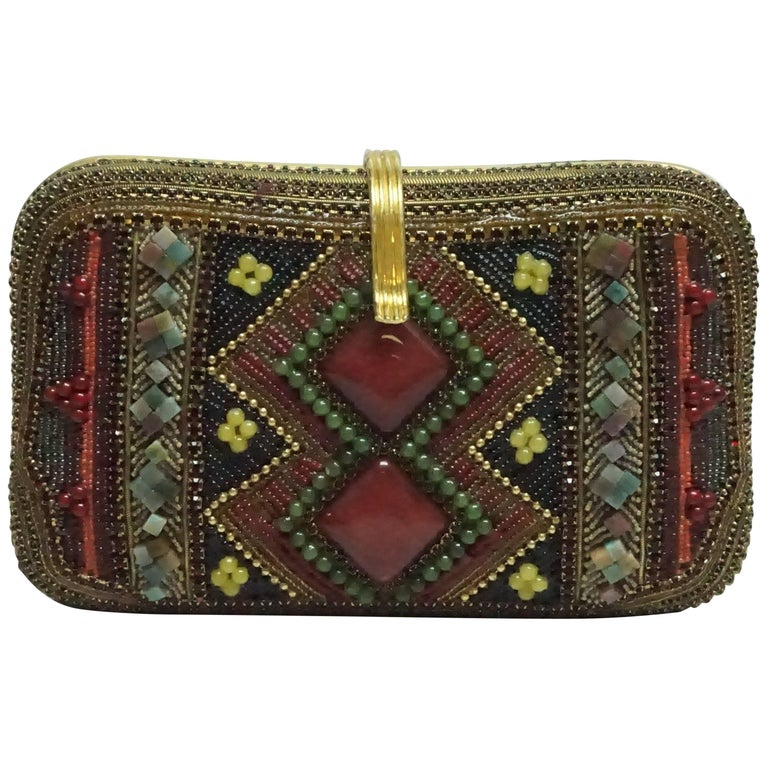 Hansen Designs Vintage Jeweled Clutch  For Sale