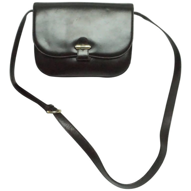 Gucci Brown Leather Cross Body