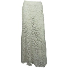 Ralph Lauren Vintage Ivory Irish Crochet 1900's Lace Skirt - NWT
