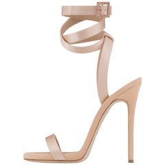 Giuseppe Zanotti New Sold Out Satin Crystal Strappy Evening Sandals Heels in Box