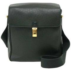 Louis Vuitton Yaranga Green Taiga Leather Messenger Bag