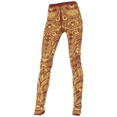 Alexander McQueen Knit Ethnic Pattern Leggings