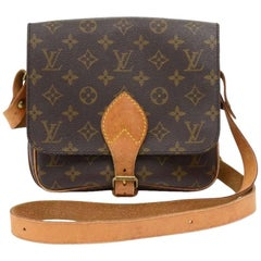 Vintage Louis Vuitton Cartouchiere MM Monogram Canvas Shoulder Bag