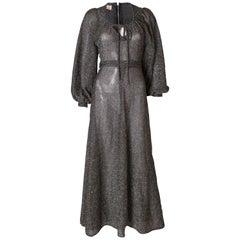 Vintage Richard Shop Long  Lurex Gown
