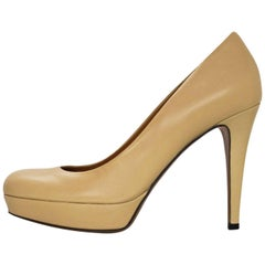 Gucci Beige Leather Pumps Sz 35.5