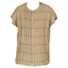 1980s Men's Issey Miyake Linen Shirt