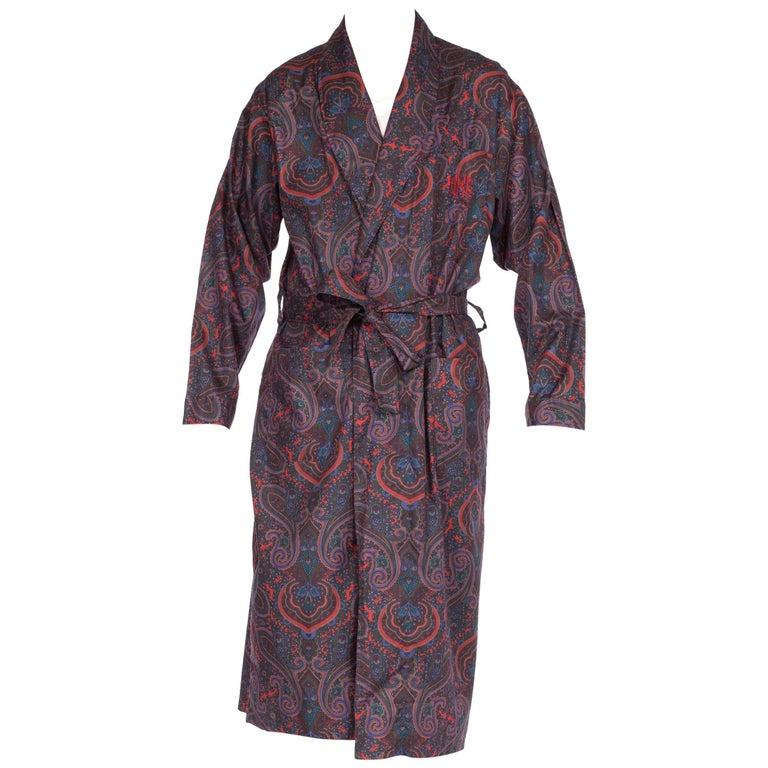 Mens Christian Dior Paisley Silk Robe