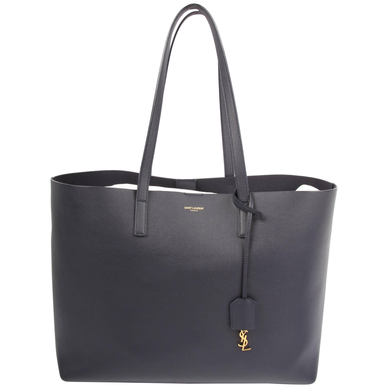 1stdibs Saint Laurent Dark Blue Shopping Tote Bag DZl9cO1byD
