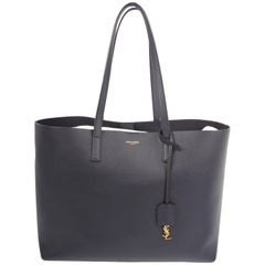 Saint Laurent dark blue Shopping Tote Bag